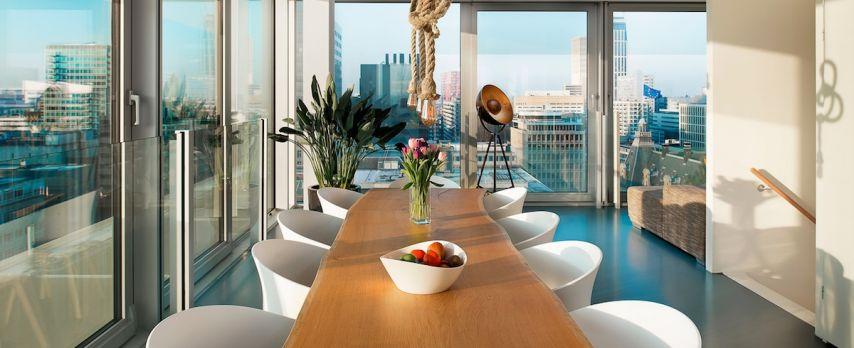Penthouse met Panoramisch Uitzicht over Rotterdam