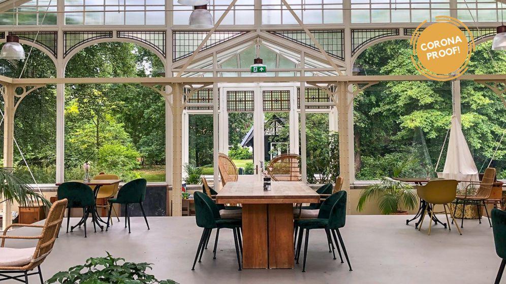 Sfeervol Vergaderen in een Botanische Kas